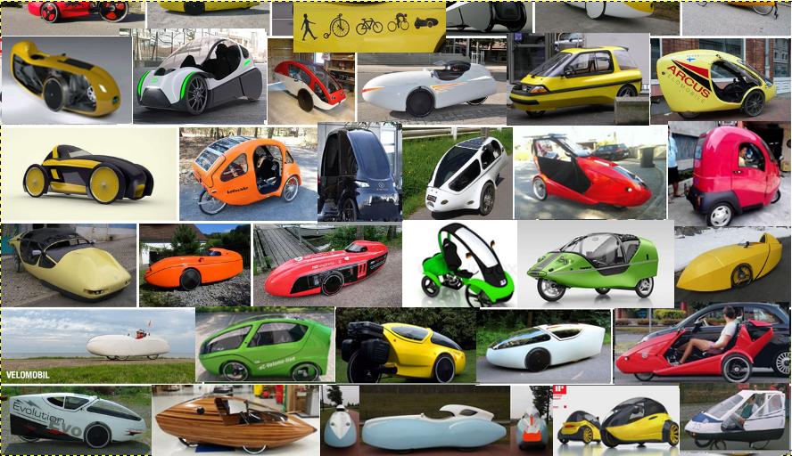 Bild: Velomobile für individuelle Mobilität ·eine Auswahl der Vielfalt © Roy Rempt