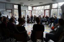 Ein Worksho beim Dokumentarfilmfestival in Hannover.
