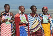 Massai-Frauen beim Abschluss des Permakultur-Trainings in Ngabobo / Tansania